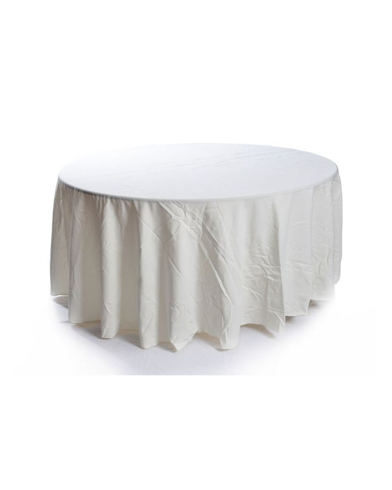 108 Inch Ivory Round Banqueting Wedding Tablecloth