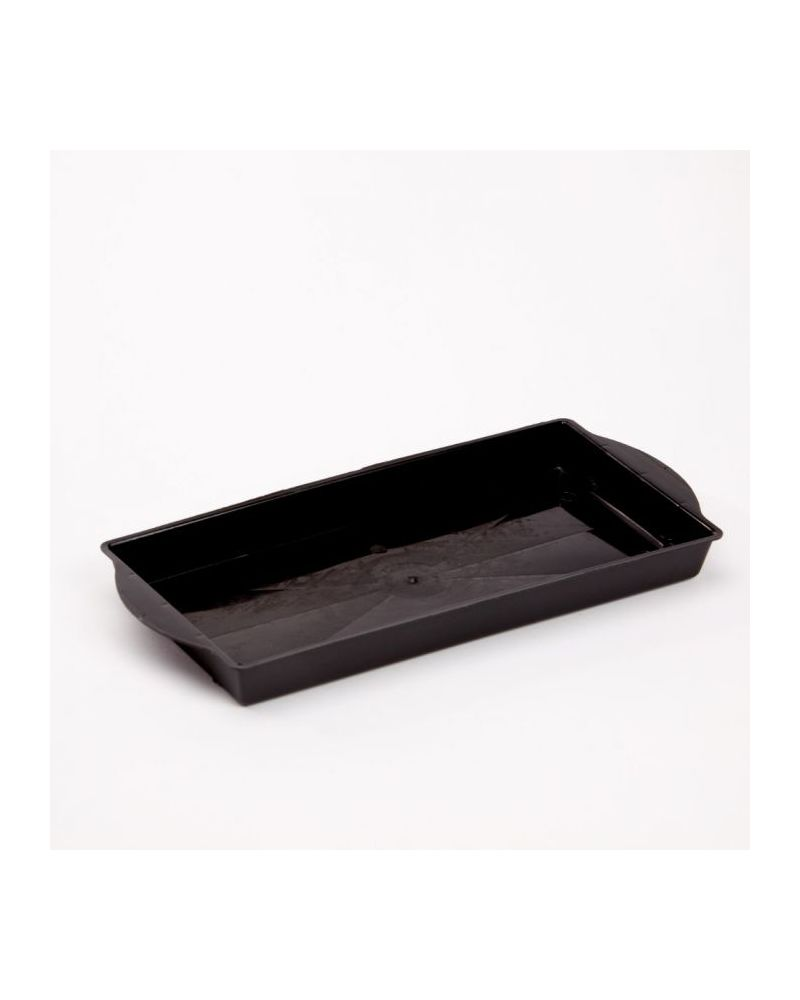 Floral Single Brick Tray - Black (Singles)
