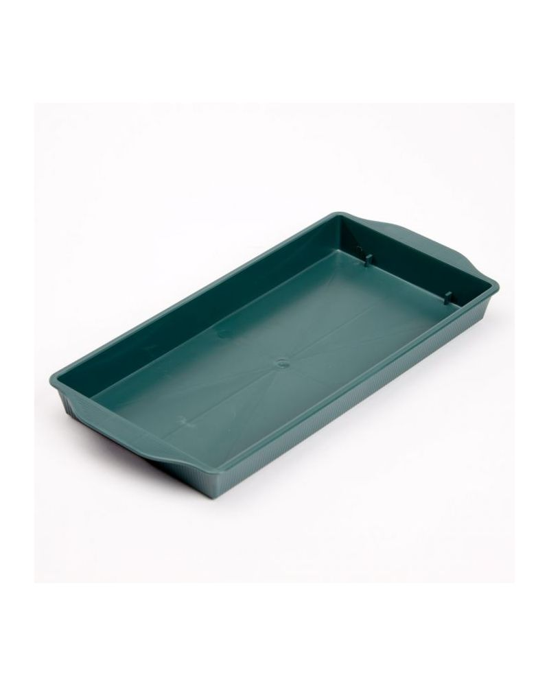 Floral Single Brick Tray Green - Pack of 25