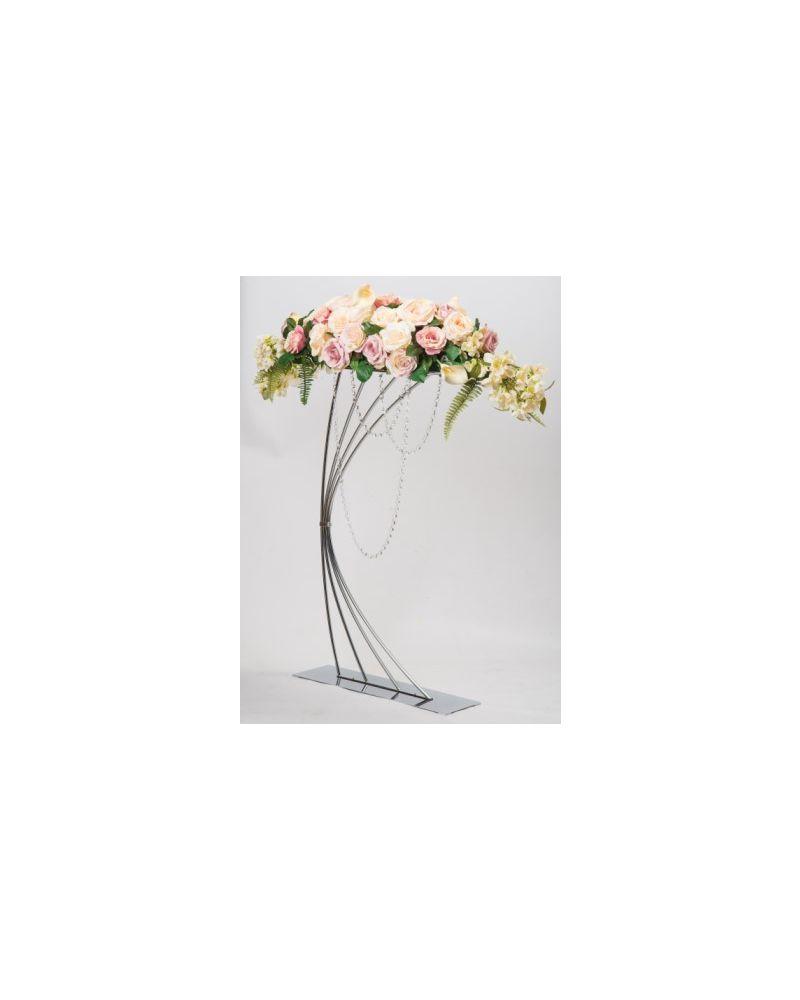 Harp Flower Stand 92cm (Silver)