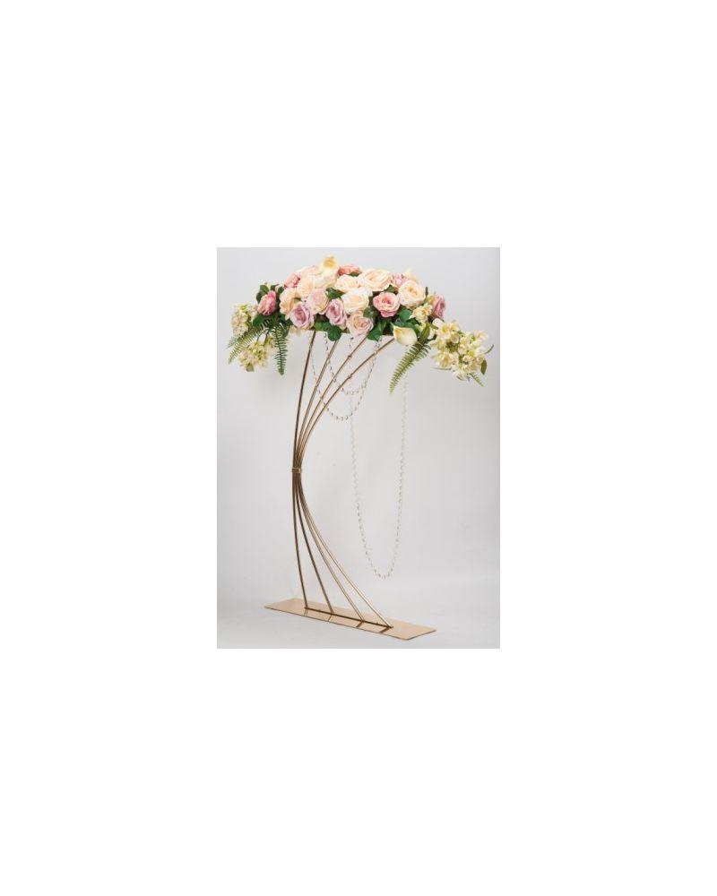 Harp Flower Stand 92cm (Gold)