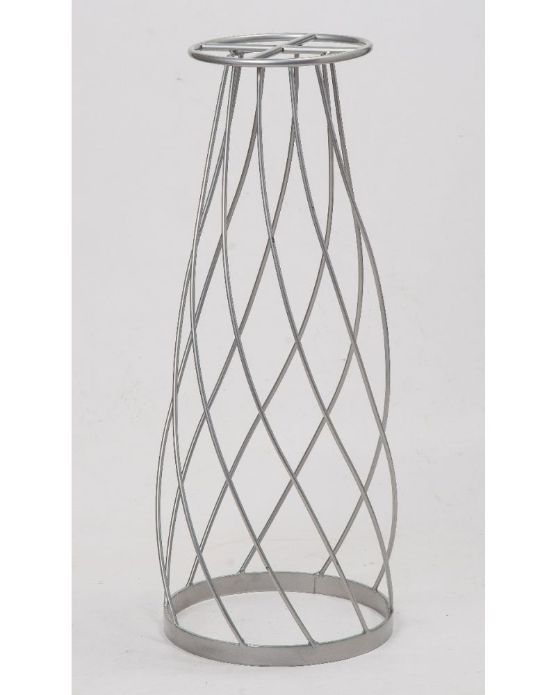 60cm Geometric Silver Twirling Metal Flower Stand