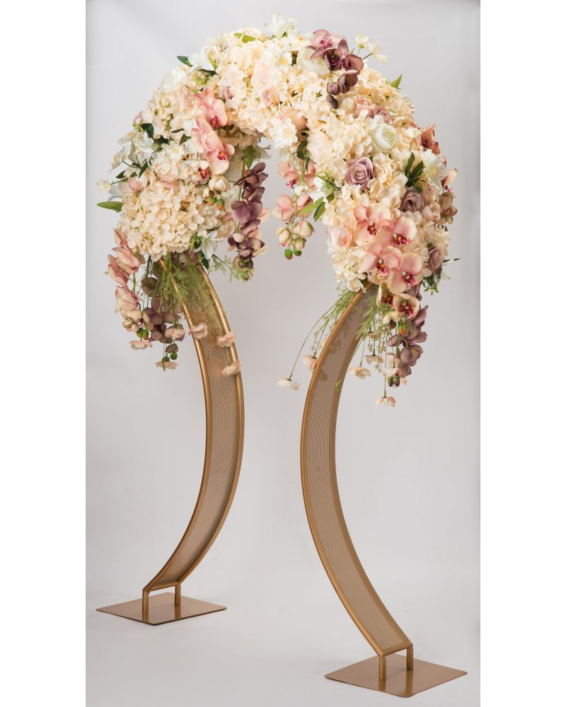 140cm Umbrella Curved Flower Stand In Gold