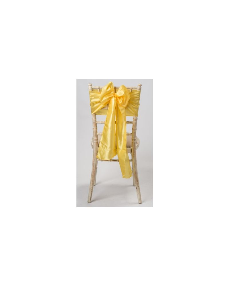 Yellow Taffeta Wedding Chair Cover Sashes
