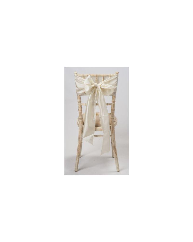 """Ivory Taffeta Wedding Chair Cover Sashes 8"""" x 108"""""""