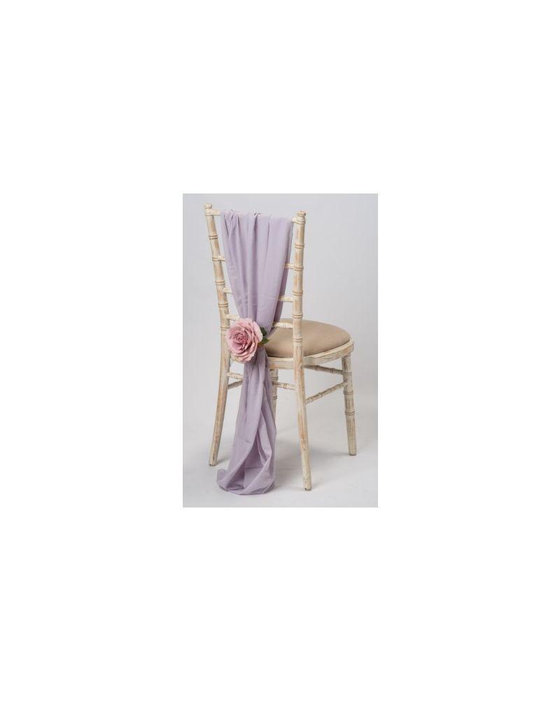 Iris Violet CHiffon Vertical Drop