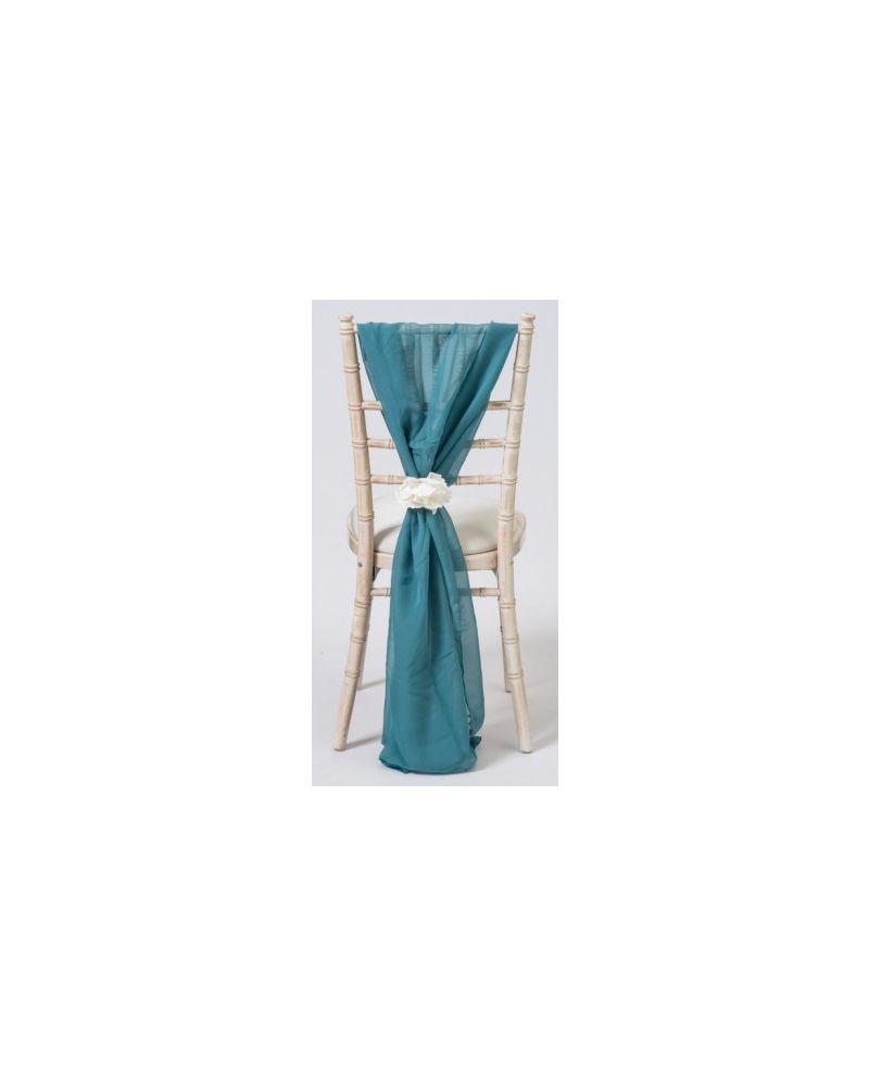 Teal Green Chiavari Chair Cover Wedding Chiffon Vertical Drops
