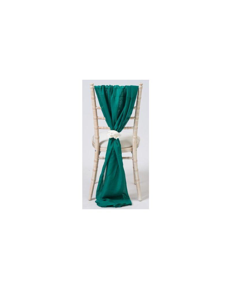 Hunter Green Chiavari Chair Cover Wedding Chiffon Vertical Drops