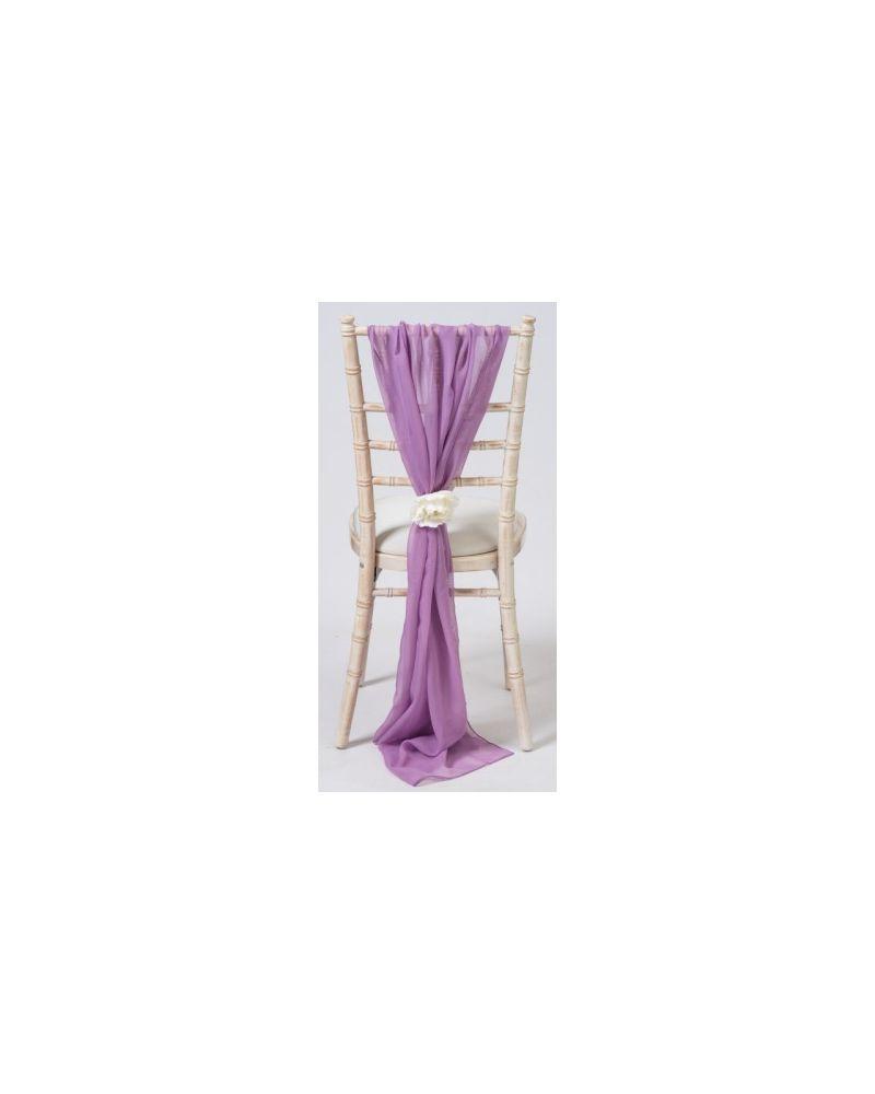 Light Mauve Chiavari Chair Cover Wedding Chiffon Vertical Drops