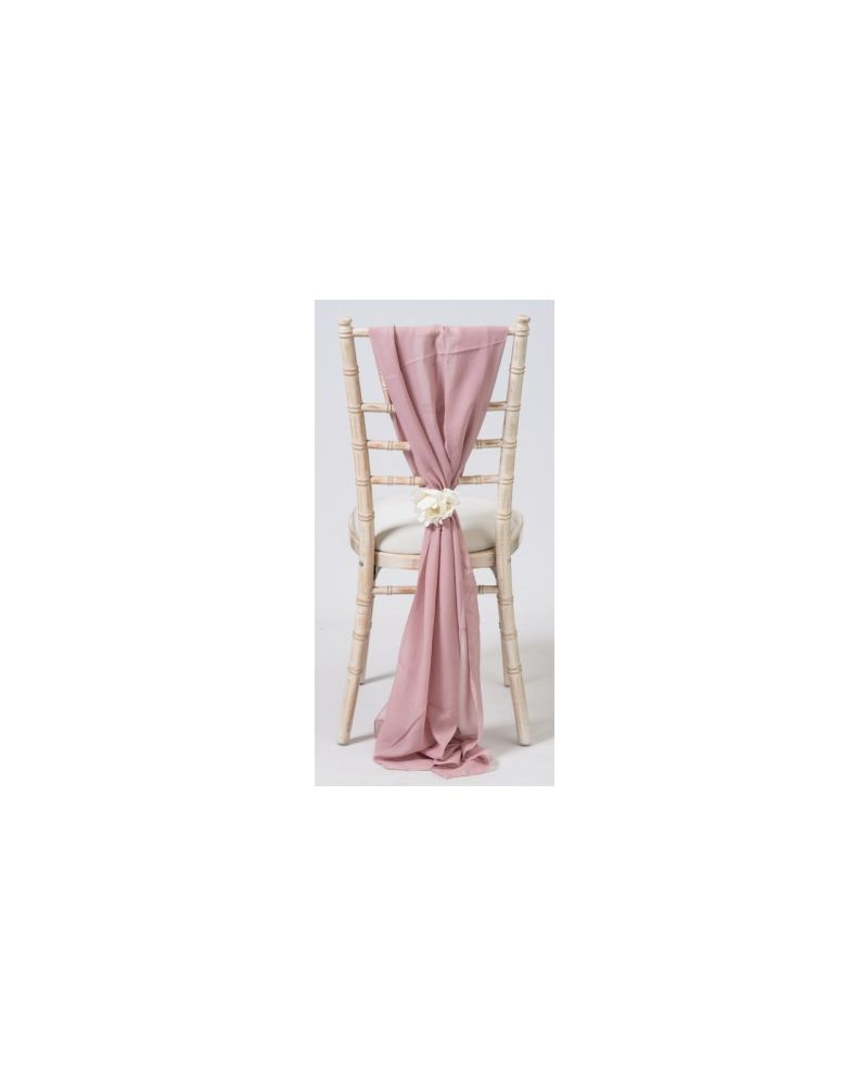 Pale Pink Chiavari Chair Cover Wedding Chiffon Vertical Drops