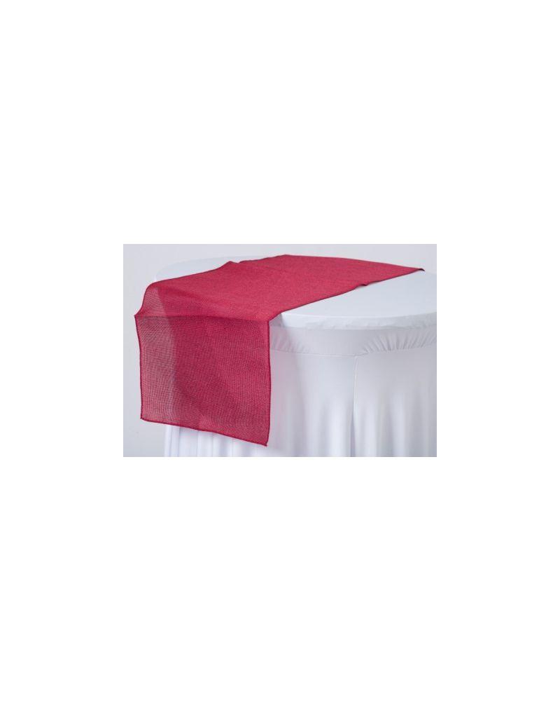 "Dark Red Burgundy Linen Wedding Table Runners 12"" x 102"""