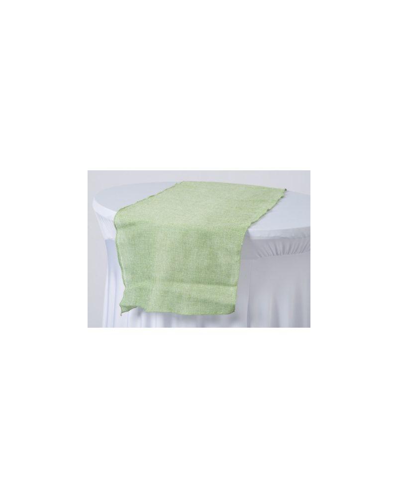 "Sage Green Linen Wedding Table Runners 12"" x 102"""