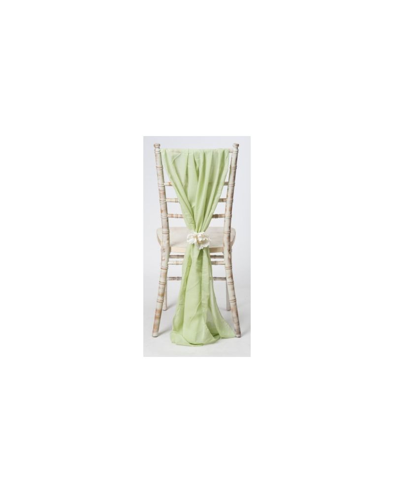 Sage Green Chiavari Chair Cover Wedding Chiffon Vertical Drops
