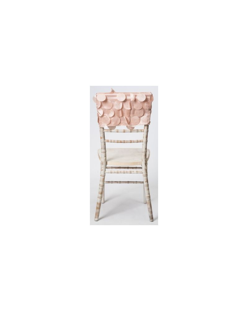 Blush Pink Taffeta Petal Wedding Chiavari Chair Back 38cmx41cm