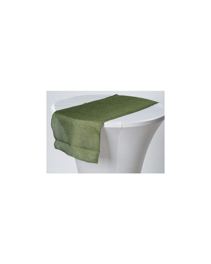 """Moss Green Linen Wedding Table Runner 12"""" x 102"""""""