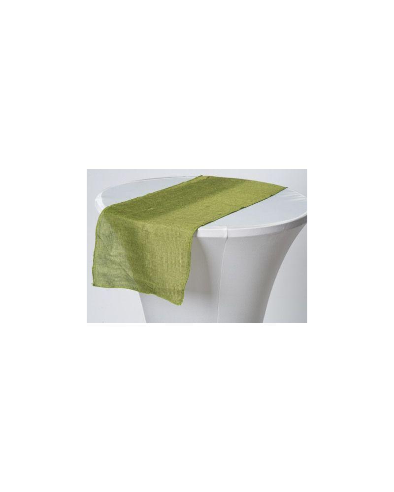 """Olive Green Linen Wedding Table Runner 12"""" x 102"""""""