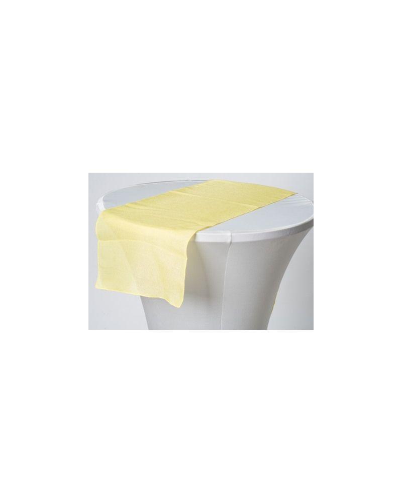 """lemon Yellow Linen Wedding Table Runner 12"""" x 102"""""""