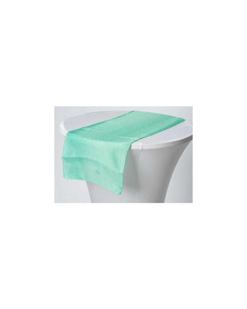 "Spearmint Green Linen Wedding Table Runner 12"" x 102"""