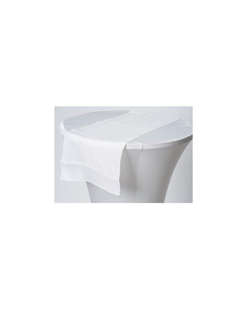 """White Linen Wedding Table Runner 12"""" x 102"""""""