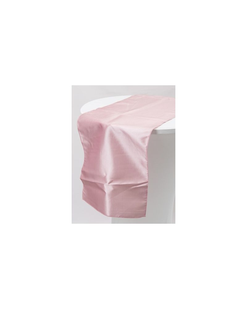 "Pale Pink Taffeta Wedding Table Runners 14""x108"""