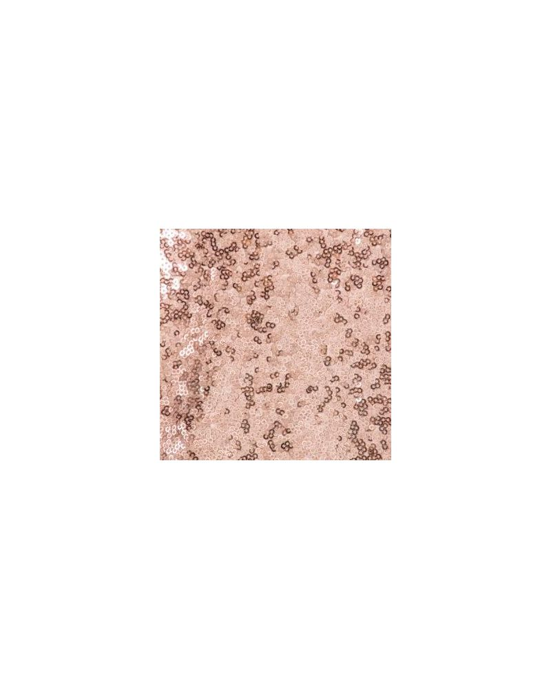 90x132 Inch Rectangular Blush Pink Sequin Tablecloth / Overlay