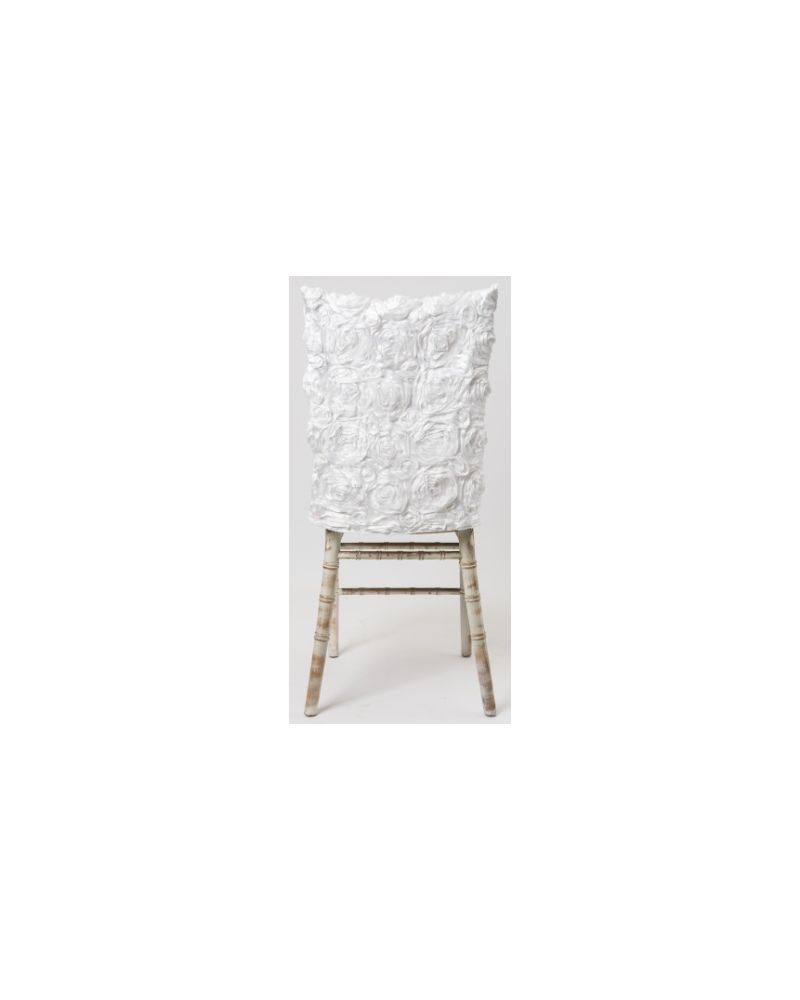 White Rosette Chiavari Chair Back Half Length 41x50cm