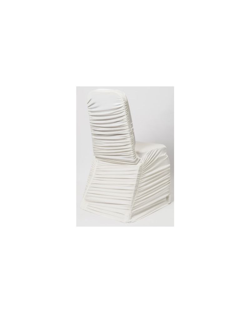 Ivory Ruched Spandex Lycra Wedding Banqueting Chair Covers