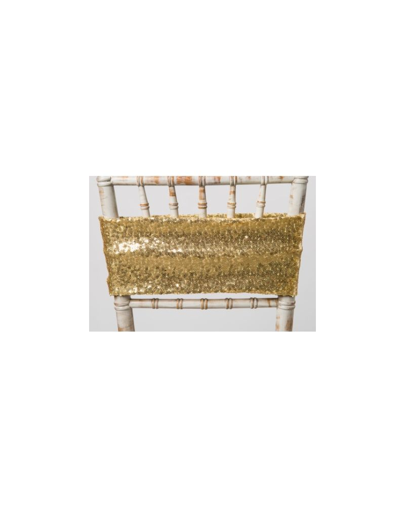 Gold Sequin Bands For Chair Covers