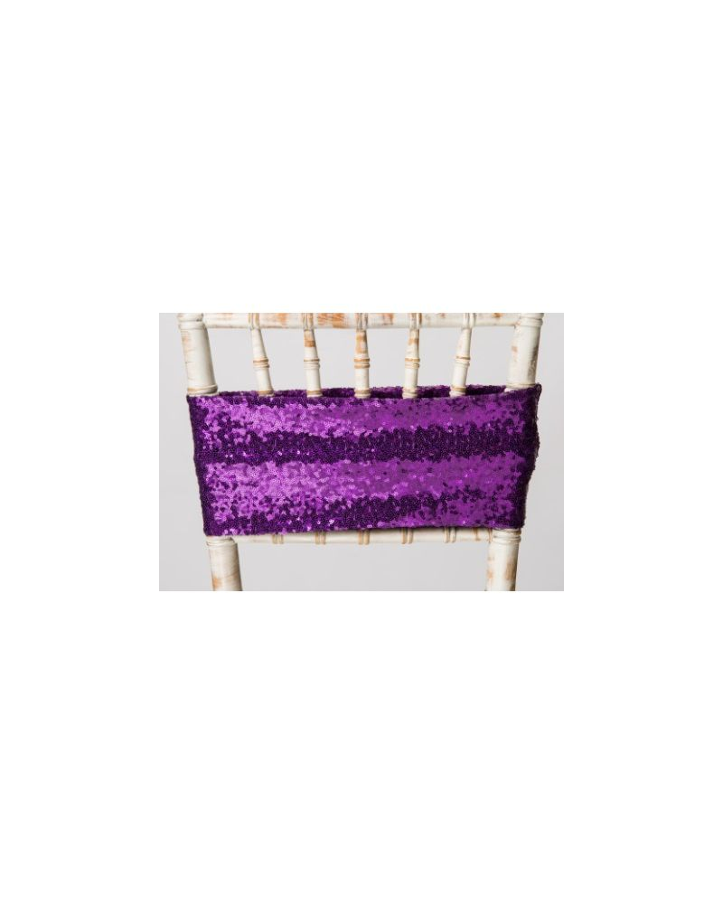 Purple Sequin Bands For Chair Covers