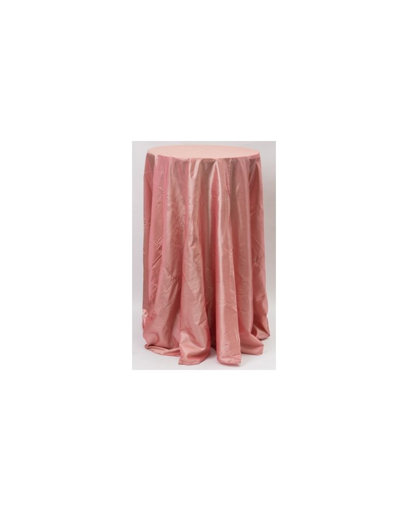 "132"" Inch Round Dusky Pink Taffeta Tablelcoth"