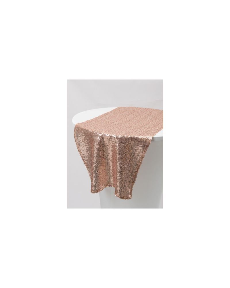 "Blush Pink  Sequin Table Runners 14""x108"""