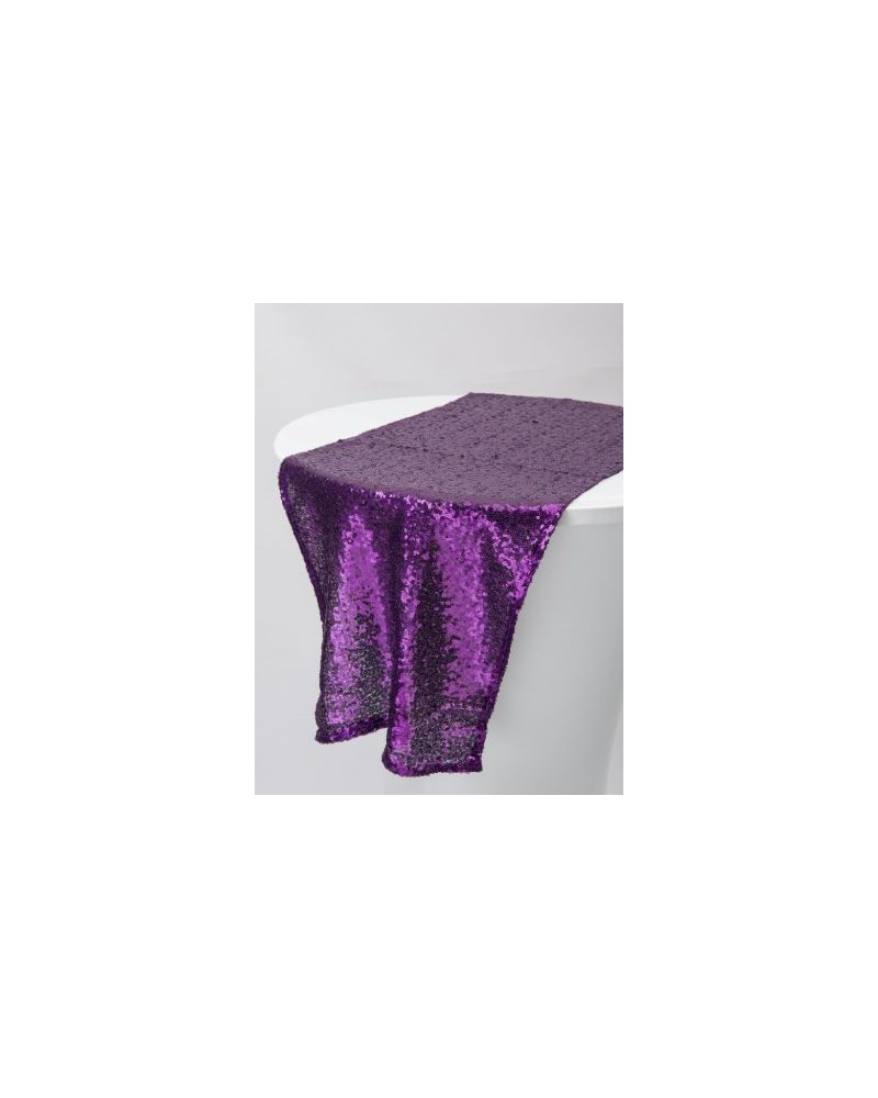 "Purple Sequin Table Runners 14""x108"""