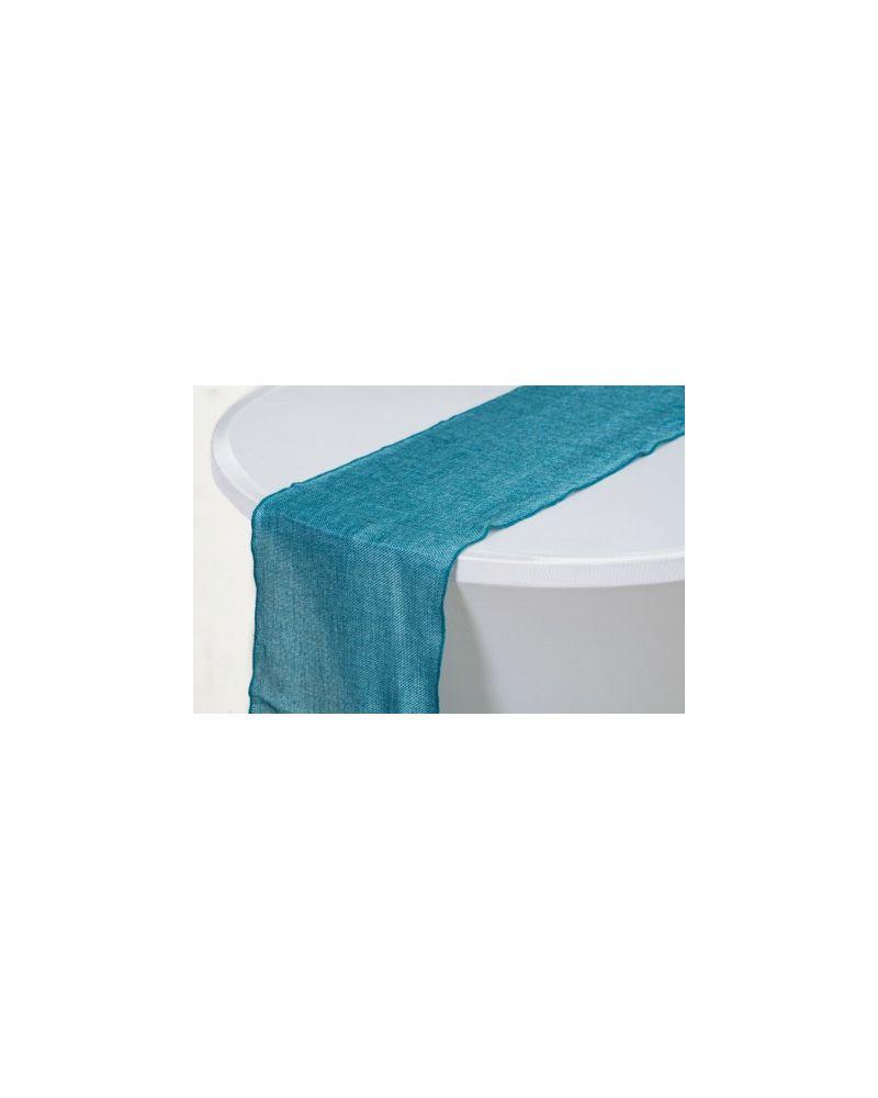 """Teal Green Linen Wedding Table Runner 12"""" x 102"""""""