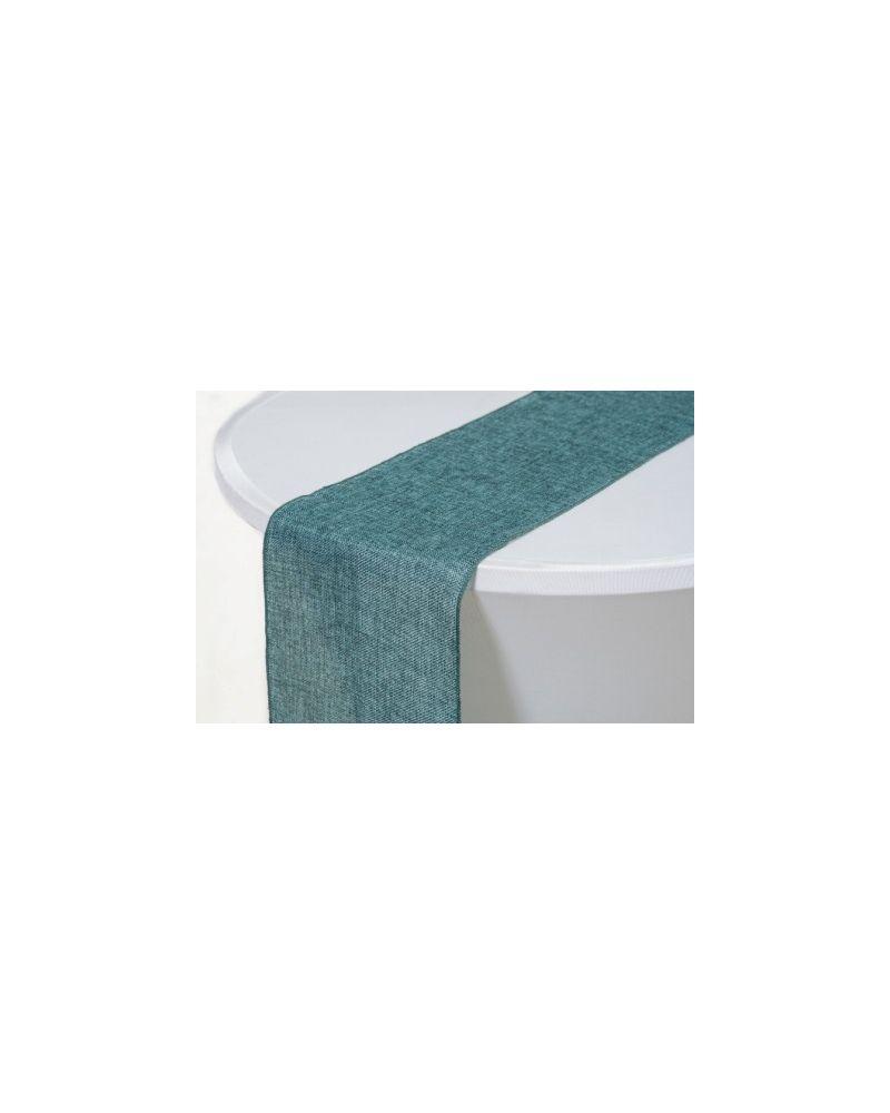 """Emerald Green Linen Wedding Table Runner 12"""" x 102"""""""
