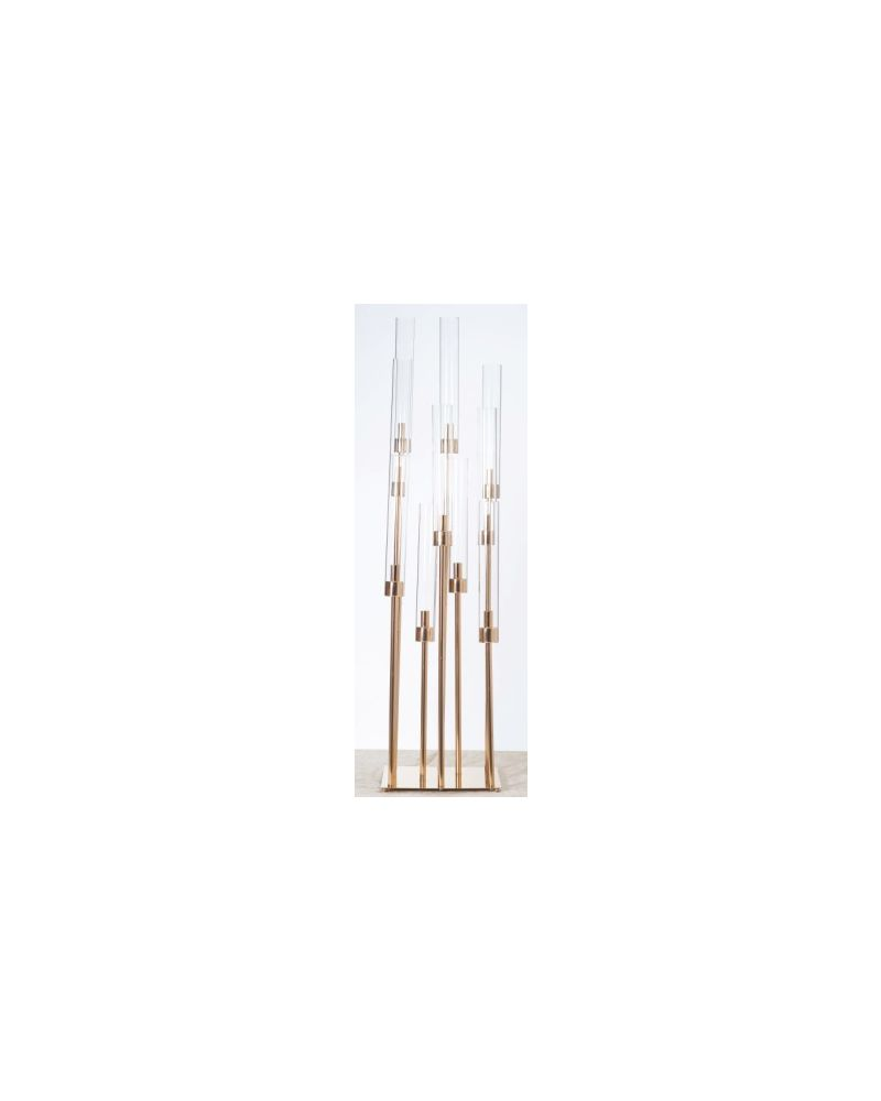 120cm Gold Stand Staggered Candle Centrepiece