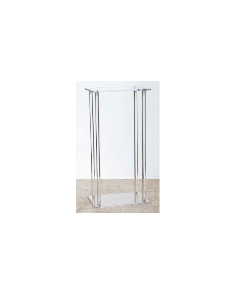 Acrylic Rectangle Flower Stand Table Pedestal 60cm