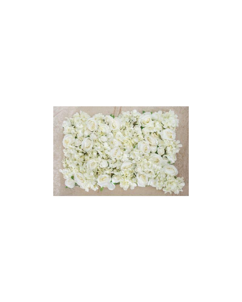 Luxury Ivory Hydrangea Rose Peony Flower Wall Panel (40x60cm)
