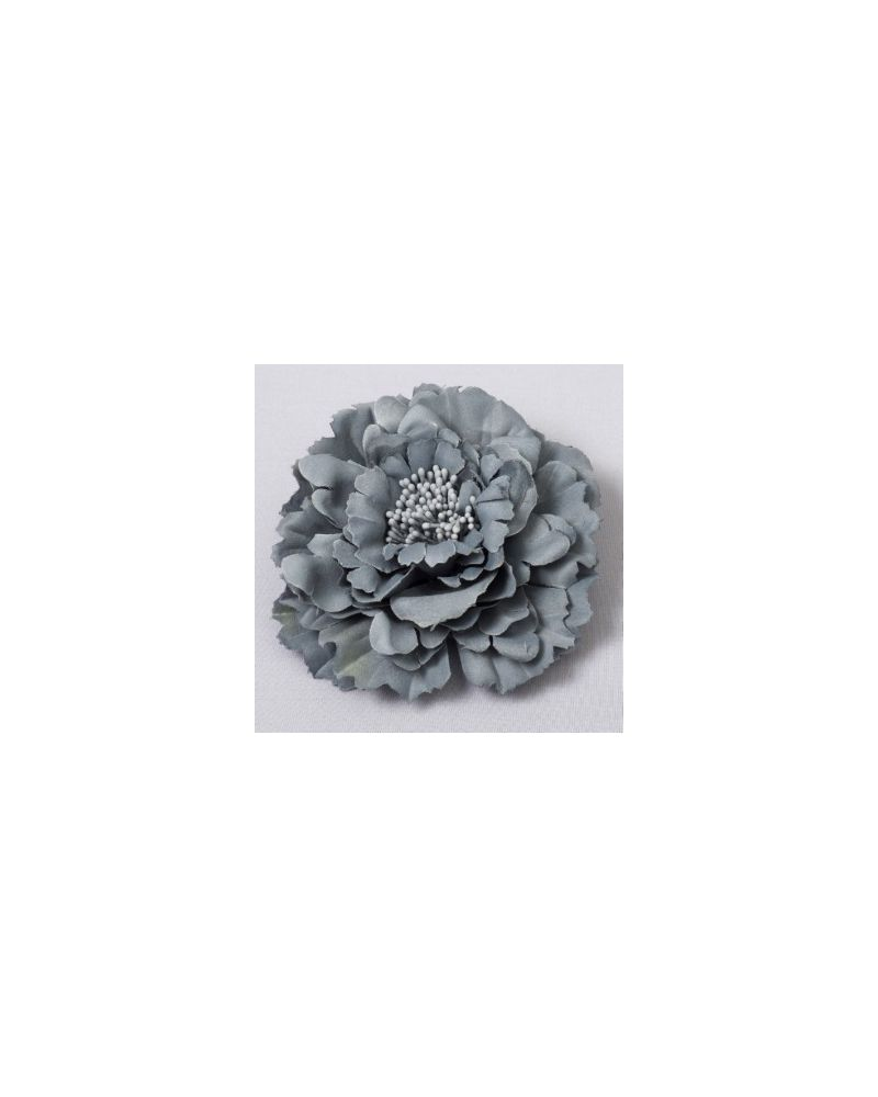 Dark Grey Flower Clip 11cm