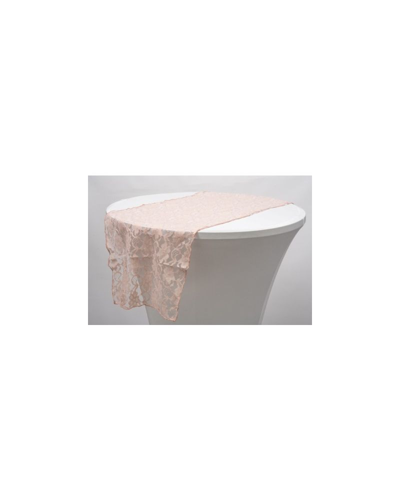"""Blush Pink Lace Vintage Wedding Table Runners 14"""" x 108"""""""