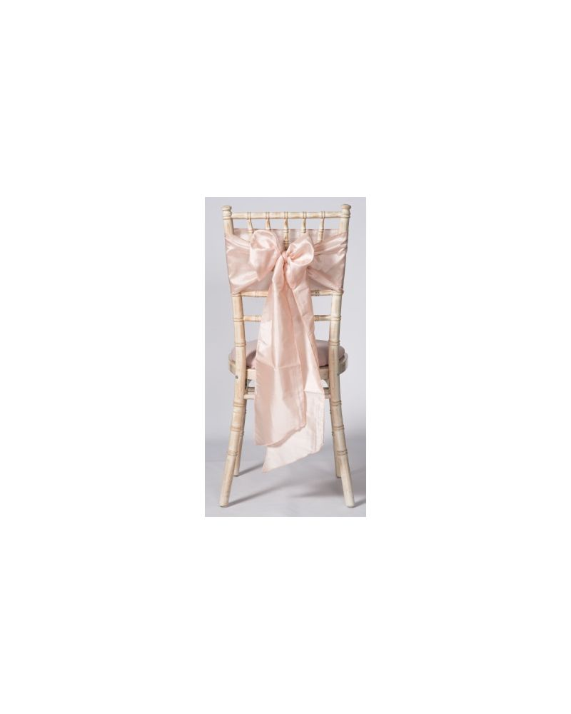 Blush Pink Taffeta Wedding Chair Cover Sashes