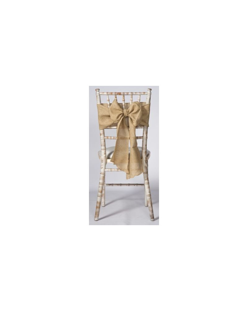 """Natural Linen Wedding Chair Cover Sashes 8"""" x 108"""""""