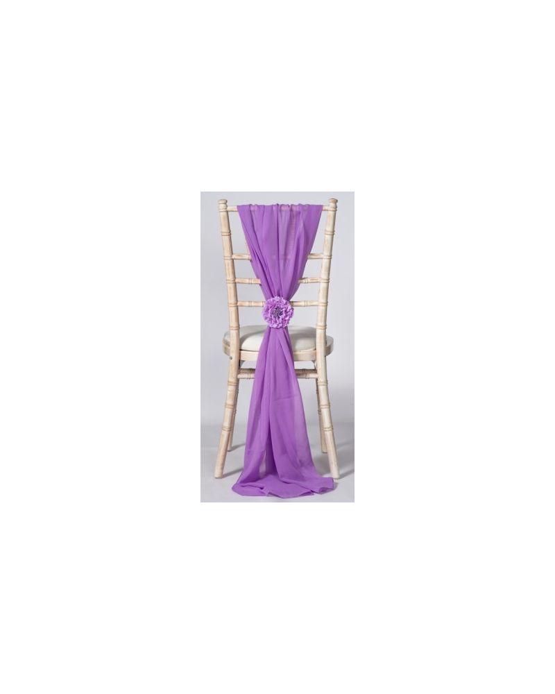 Lavender Chiavari Chair Cover Wedding Chiffon Vertical Drops