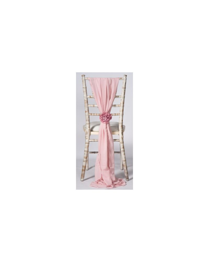 Blush Pink Chiavari Chair Cover Wedding Chiffon Vertical Drops