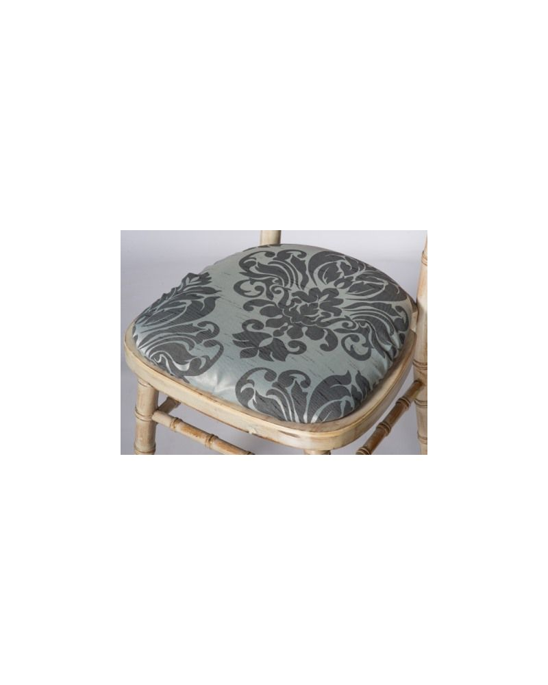 Jacquard Print Grey Chiavari Chair Polyester Seat Pad Covers (Shower Caps)