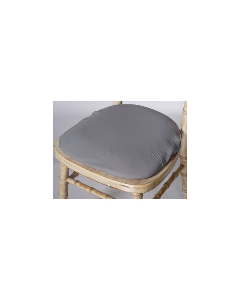 Grey Chiavari Chair Polyester Seat Pad Covers (Shower Caps)  To Buy