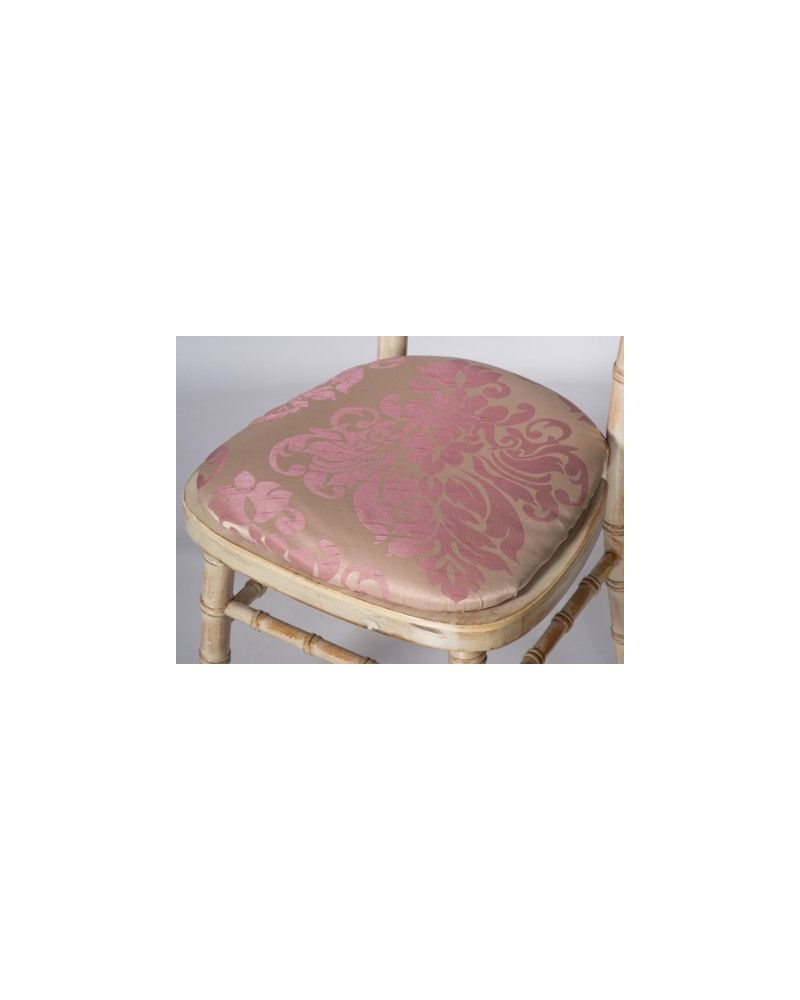 Jacquard Print Blush Pink Chiavari Chair Polyester Seat Pad Covers (Shower Caps)