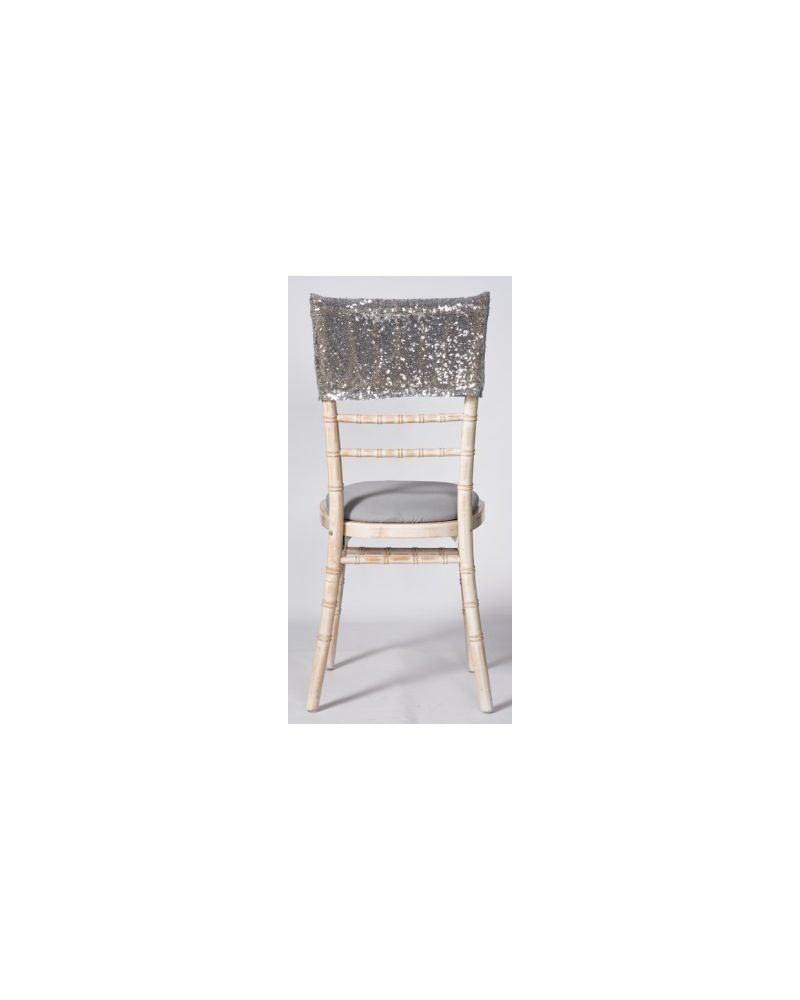 Silver Sequin Chiavari Chair Cap