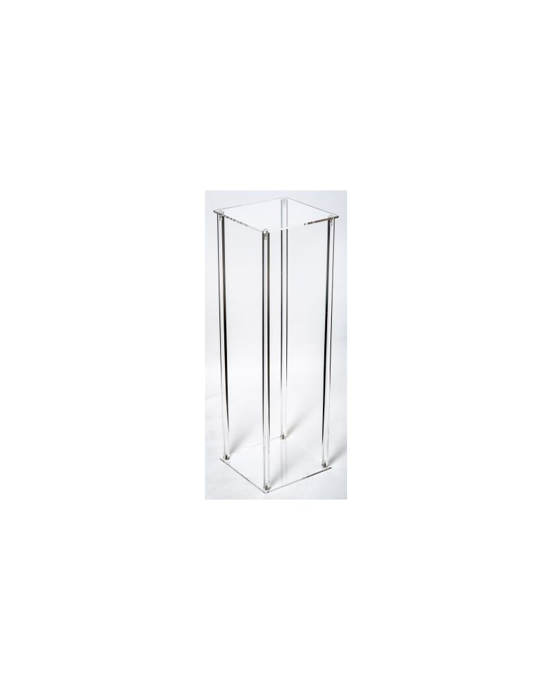 Acrylic Flower Stand Table Pedestal 80cm