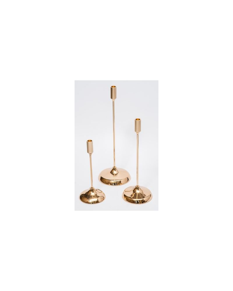 Gold Candle Holder set of 3  29cm,39cm & 49cm