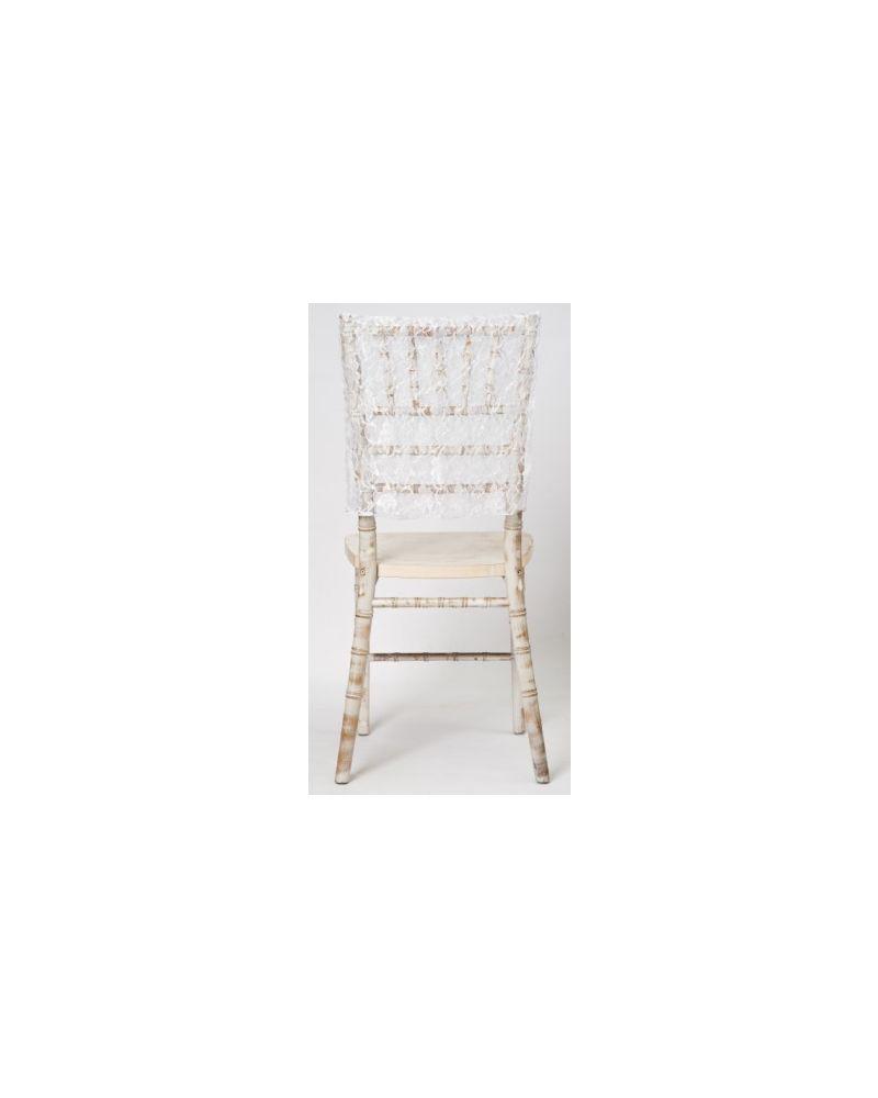 White Lace Vintage Wedding Chiavari Chair Cap 38cmx41cm